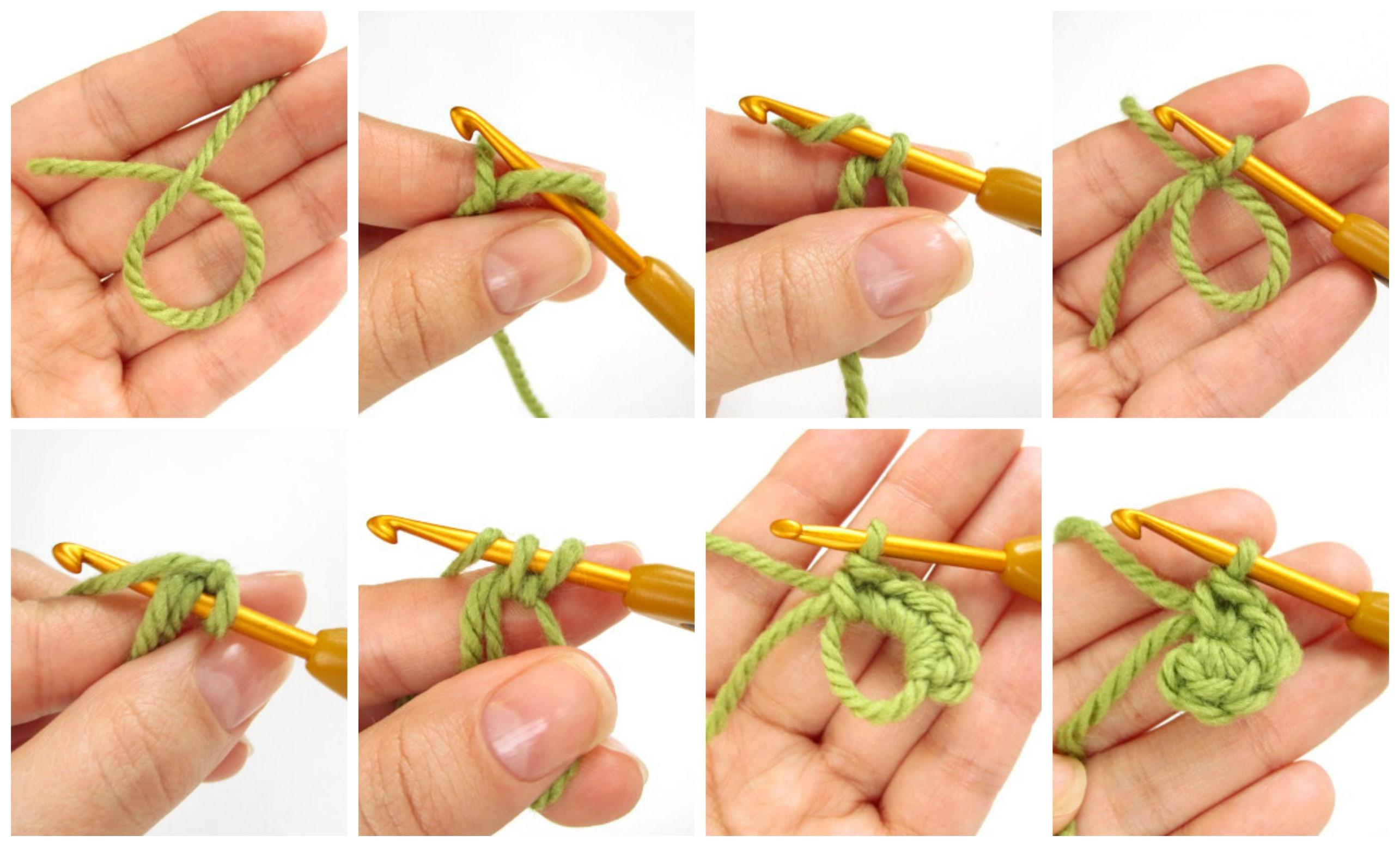 Как научиться набирать петли крючком фото